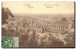 Belgie Belgium Spa Old Postcard Panoramic View Casino