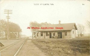 Depot, Wisconsin, Clinton Junction, RPPC, Chicago & North Western Railroad