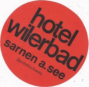 Switzerland Sarnen Hotel Wilerbad Vintage Luggage Label sk4200