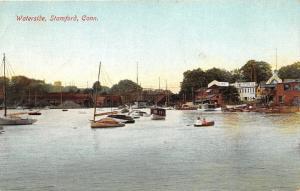Stamford Connecticut~Waterside~Pleasure Boats~Bridge Bknd~Motor Co~c1910 Pc