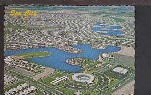 Bird's Eye View Sun City AZ Postcard BIN