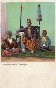 Indonesia - Dutch East Indies INLANDSCH HOOFD PREANGER Chief Preanger 1900 01.54