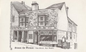Simon The Pieman Rye Sussex Shop 1960s Painting Postcard
