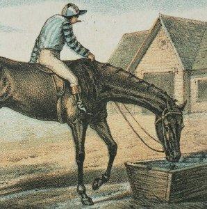 Louis Kolman St Joseph Michigan Horse Race Derby Jockey Water Break Trade Card