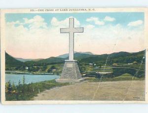 W-Border JESUS CHRIST CROSS MONUMENT Lake Junaluska North Carolina NC F2772