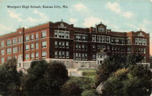 Postcard Westport High School Kansas City Missouri