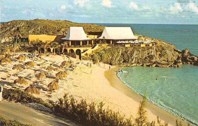 Southampton Bermuda Princess Whaler Inn Beach Scene Vintage Postcard JE229427