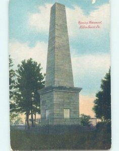 Divided-back MONUMENT SCENE Wilkes-Barre Pennsylvania PA AE7865
