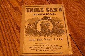 UNCLE SAMS ALMANAC 1872 PUBLISHED McDOWELL & BENNETT