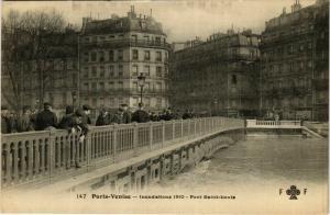 CPA PARIS VENISE Inondations 1910 Pont St. Louis (578064)