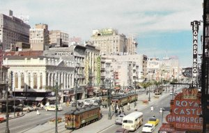 1950s Postcard of, Canal Street - New Orleans, City of Enchantment, Louisiana