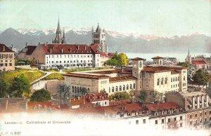 Switzerland Lausanne Cathedrale et Universite Postcard