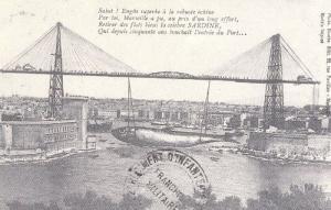 Marseille Pont  Transbordeur Fishing Fish Vintage France French View Postcard