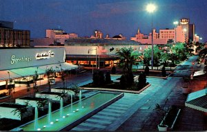 Florida Miami Beach The Lincoln Road Mall At Night