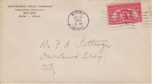 Boise ID -  WHITEHEAD DRUG CO - 1926 COVER + Flag cancel