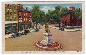 Portland, Maine, Longfellow Monument, Longfellow Square