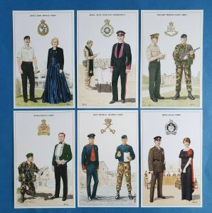 British Army Support Arm & Services Postcards Set of 6 Set 4 by Geoff White Ltd