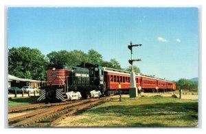 Postcard Conway Scenic Railroad North Conway NH S-4 Alco 1055 I25