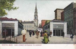 Massachusetts Boston Park Street Entrance To Subway