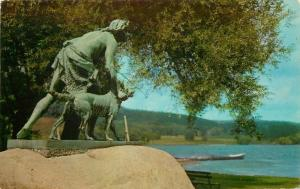 Cooperstown New York~Leatherstocking Monument~Natty Bumppo & Hector~1956