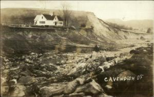 Cavendish VT 1927 Flood Real Photo Postcard #6
