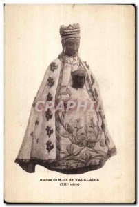 Old Postcard Statue of ND Vauclaire (XIIIAiecle