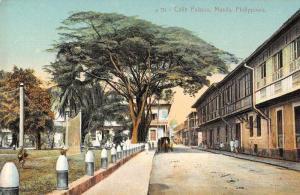 Manila Philippines Calie Palacio Street Scene Vintage Postcard JE229242