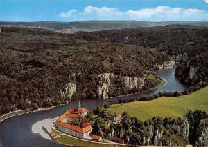 Kloster Weltenburg mit Donaudurchbruch Abbey Aerial view River
