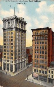 Louisville Kentucky~Lincoln & Todd Skyscraper Buildings~1911 Postcard