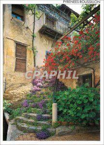 Postcard Modern Pyrenees Roussillon Maison Fleurie in Old Vernet (Conflent) S...