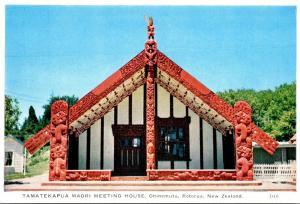 New Zealand Rotorua Ohinemutu Tamatekapua Mori Meeting House