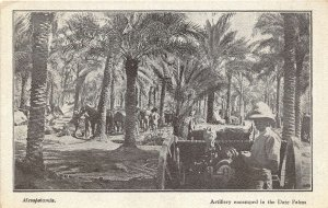 br104943 artillery encamped in the date palms mesopotamia  iraq