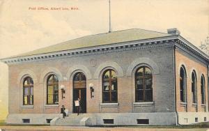Albert Lea Minnesota~Men Read Newspaper on Post Office Steps~c1910 Postcard