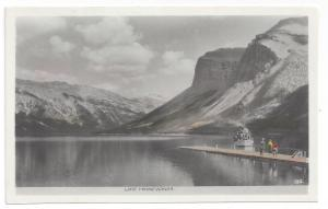 RPPC Canada Lake Minnewanka Banff Tinted Real Photo
