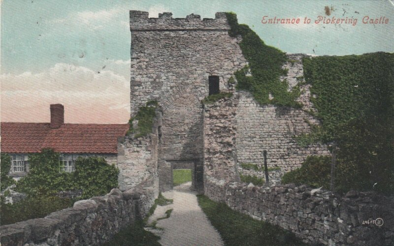 PICKERING , Yorkshire, England , 1906 ; Entrance to Castle