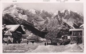 RP, ZUGSPITZE (Bavaria), Germany, 1920-1940s; Marktplatz Gegen Zugspitze