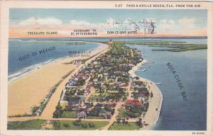 Florida Saint Petersburg Pass A Grille Beach 1937 Curteich
