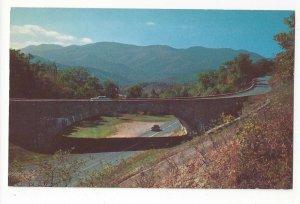 NC Blue Ridge Parkway Buck Creek Gap Mt Mitchell Vtg Chrome Highway Postcard