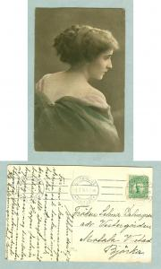 Sweden. 1914. Young Lady. Postal Used