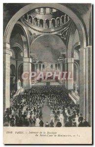 Old Postcard Paris Interior of the Basilica of Sacre Coeur in Montmartre