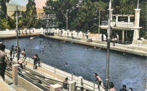 Algeria Postcard Constantine Sidi M'Cid outdoor swimming pool