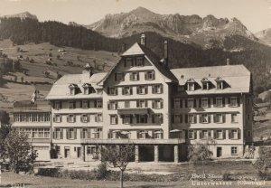 Hotel Santis Unterwasser Real Photo Switzerland Postcard