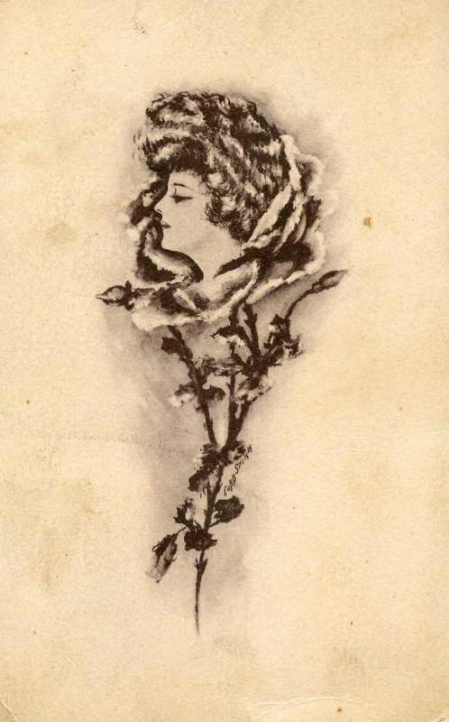 Lady as Rose Blossom   *Artist Signed: Cobb Shinn