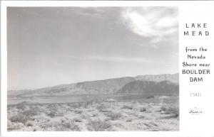 LAKE MEAD, NV Nevada   View from NEVADA SHORE   c1940s  Frasher  F5431  Postcard