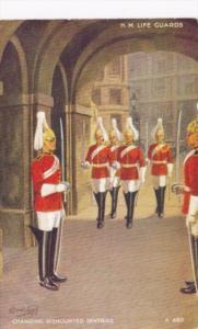 England  Whitehall H M LIfe Guards Changing Dismounted Sentries Tucks
