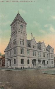 MANCHESTER, New Hampshire, PU-1912; Post Office