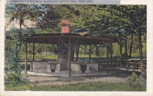 Community Fireplace, Allegheny State Park, New York, 1910-1920s