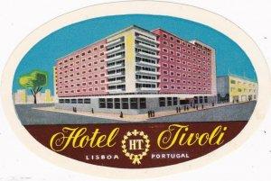 Portugal Lisboa Hotel Tivoli Vintage Luggage Label sk2402