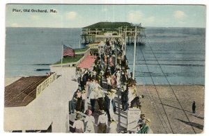 Old Orchard, Me, Pier - Tichnor Brothers