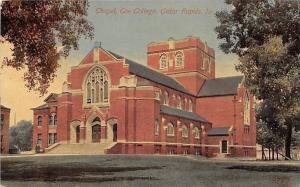 Cedar Rapids Iowa~Coe College Chapel~1908 Postcard